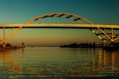 Sundown on the Bridge - Milwaukee, WI.