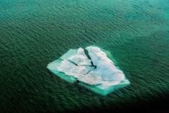 Floating Iceberg - Nunavut, Canada.