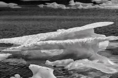 Iceberg in Black & White-Nunavut, Canada.