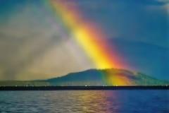 Rainbow on a Lake - Priest Lake, Idaho.