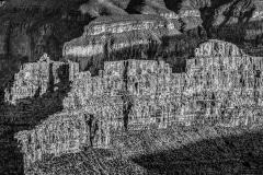 Sundown in the Abyss - Grand-Canyon, AZ.  (Black & White)