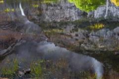 Reflections of a Fall - Yosemite N.P. CA.