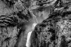 Snowmelt in Black White- - Yosemite N.P. CA.