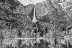 Yosemite Falls in Pencil - Yosemite CA.